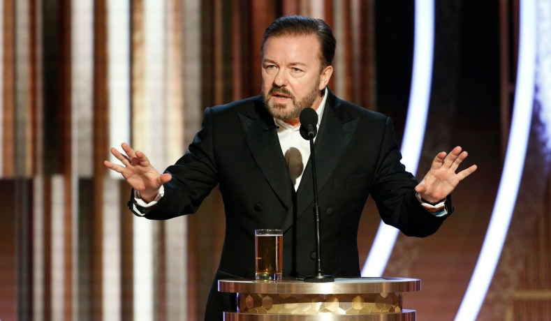 "ricky gervais golden globes 2020 - Ricky Gervais Tells Hollywood to ""FUCK Off"""