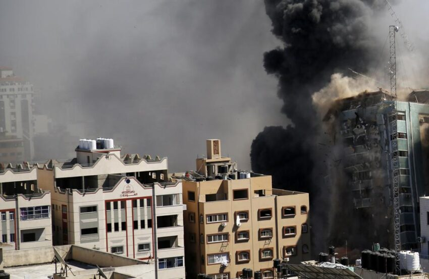 1000 850x553 - AP 'horrified' by Israeli attack on its office