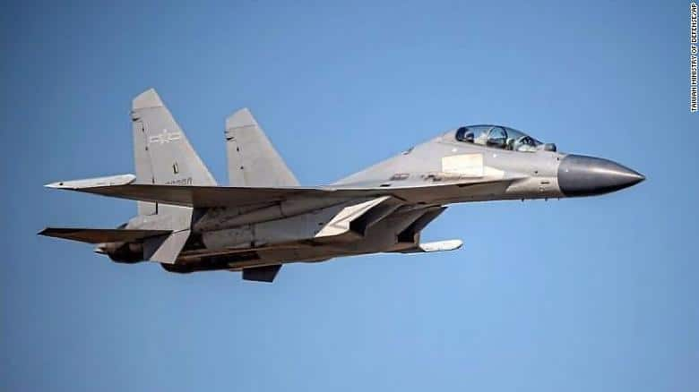 211003063132 chinese j 16 fighter jet taiwan release exlarge 169 - China sends 77 warplanes into Taiwan defense zone over two days, Taipei says